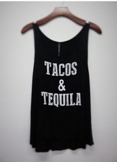 Tacos and Tequila Graphic Tank