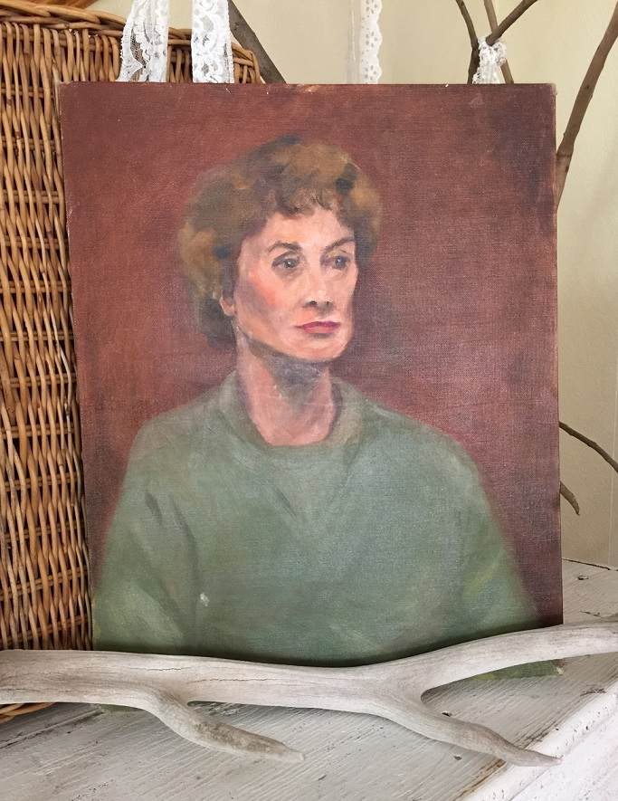 Lady in Green Painting