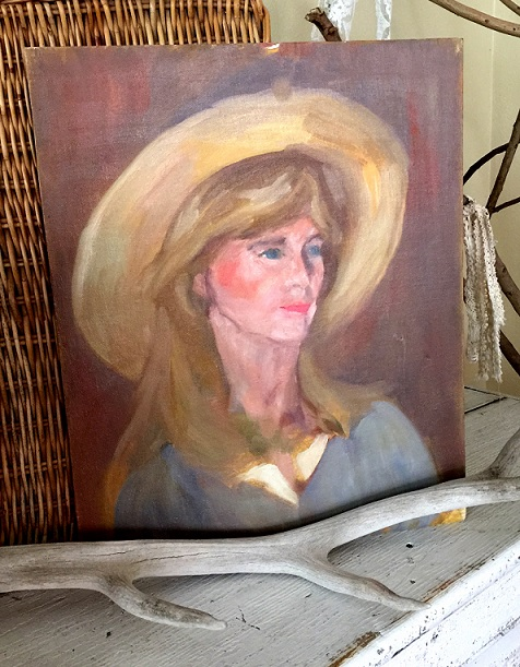 Lady with the Hat Painting