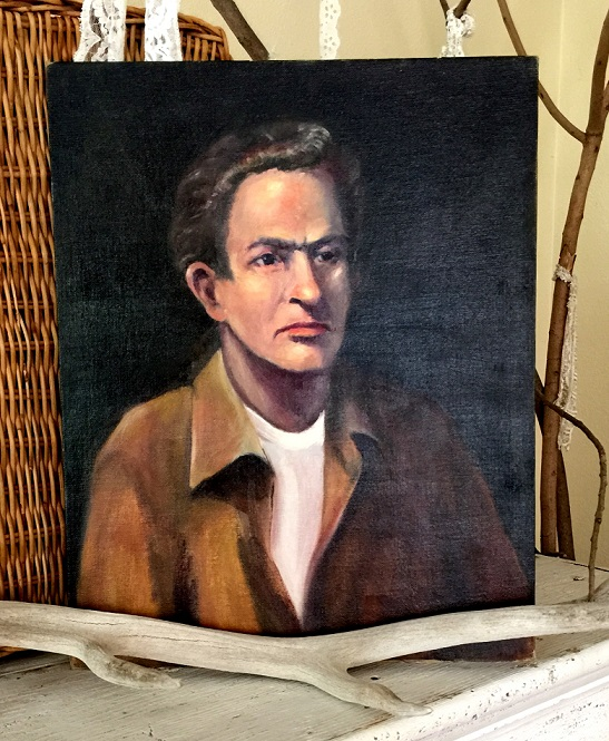 Man with Brown Shirt Painting