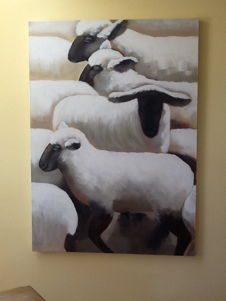Lots of Sheep Painting